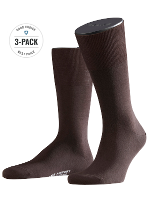 Falke 3-Pack Airport brown