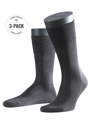 Falke 3-Pack Tiago anthracite