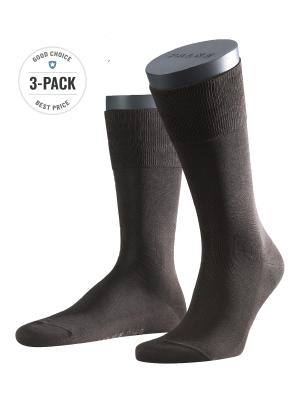 Falke 3-Pack Tiago brown