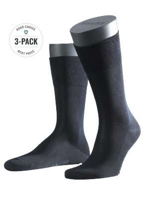 Falke 3-Pack Tiago dark navy