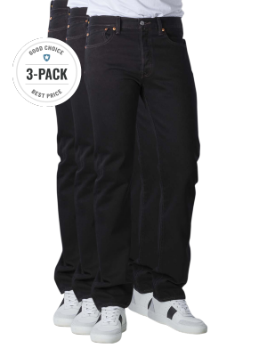 Levi's 501 Jeans Straight Fit black 3-Pack