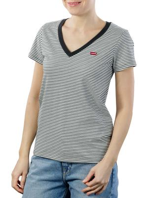 Levi's Perfect VNeck T-Shirt annalise stripe cloud dancer