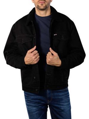 Tommy Jeans Oversize Sherpa Trucker Jacket kalmar black