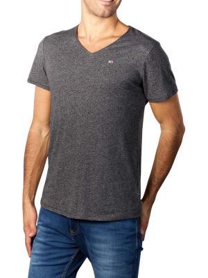 Tommy Jeans T-Shirt Slim Jaspe V Neck black