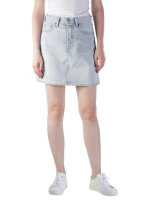 Levi's High Rise Deconstructed Button Fly Skirt check ya lat