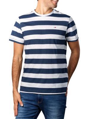 Tommy Jeans Heather Stripe T-Shirt twilight navy