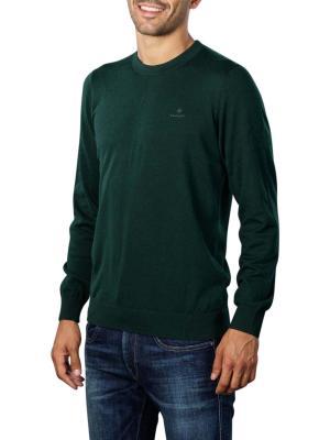 Gant D1 Cotton Cashmere Crew Pullover tartan green