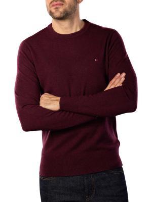 Tommy Hilfiger Extrafine Soft Wool Sweater deep burgundy