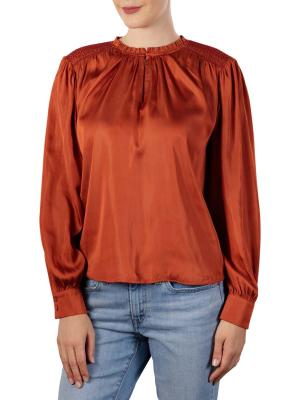Maison Scotch Top Smocking Details Pullover copper