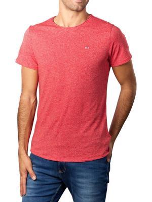 Tommy Jeans T-Shirt Slim Jaspe deep crimson