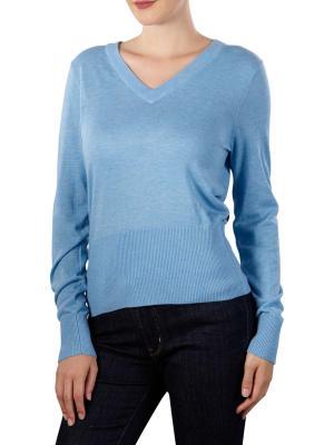 Maison Scotch Lightweight Knit V-Neck Pullover lake blue