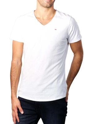 Tommy Jeans T-Shirt Slim Jaspe V Neck whte