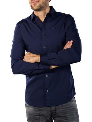 Tommy Jeans Original Stretch Shirt black iris