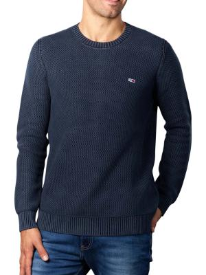 Tommy Jeans Essential Washed Pullover twilight navy