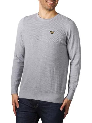 PME Legend Crew Neck Strukture Knit grey