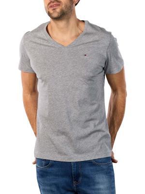 Tommy Jeans Original Jersey V T-Shirt light grey heather