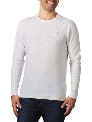 PME Legend Recycled Linen Crew Neck offwhite