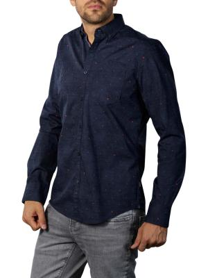 PME Legend Long Sleeve Shirt Poplin Stretch dark