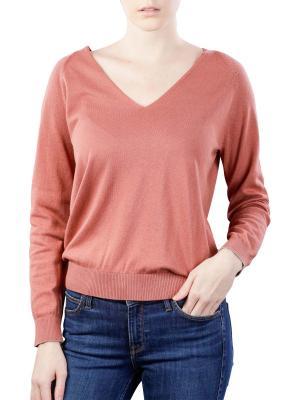 Yaya V-Neck Sweater terracotta