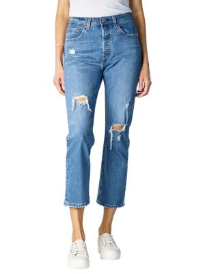 Levi's 501 Cropped Jeans Straight Fit charsleten ends