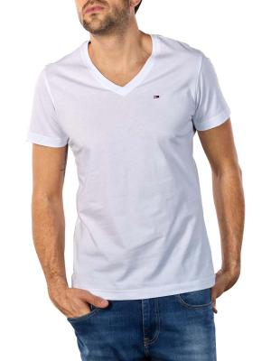 Tommy Jeans Original Jersey V T-Shirt classic white
