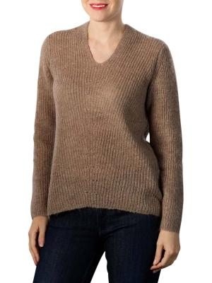 Yaya Wool Blend V-Neck Sweater taupe grey