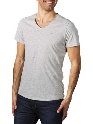 Tommy Jeans Slim Jaspe V Neck light grey