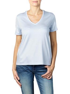 Maison Scotch Regular Fit V-Neck T-Shirt ice blue