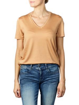 Maison Scotch Regular Fit V-Neck T-Shirt fudge