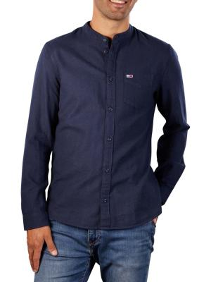 Tommy Jeans Solid Flannel Mao Shirt twilight navy