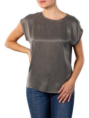 Yaya T-Shirt Rounded Hems steel gray
