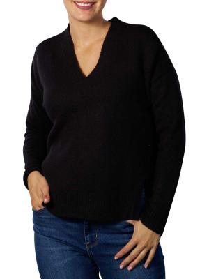Maison Scotch Fuzzy V-Neck Pullover black