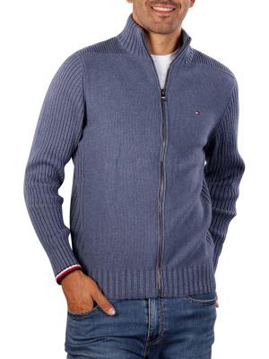 Tommy Hilfiger Jacket Bold Structure Zip faded indigo