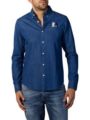 Scotch & Soda Ams Blauw Denim Shirt blue