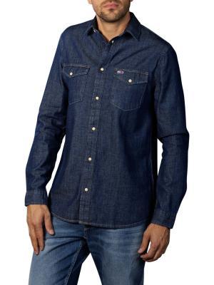 Tommy Jeans Western Denim Shirt dk indigo
