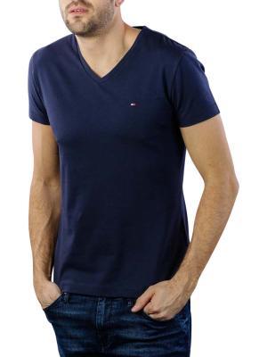 Tommy Hilfiger Core Stretch Slim V-Neck T-Shirt navy blazer