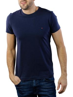 Tommy Hilfiger Core Stretch Slim Crew T-Shirt navy blazer