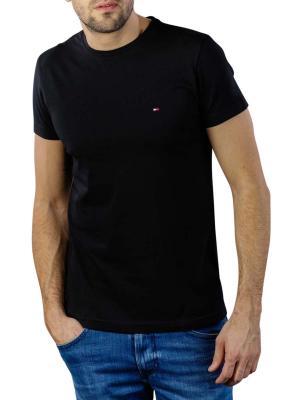 Tommy Hilfiger Core Stretch Slim Crew T-Shirt flag black