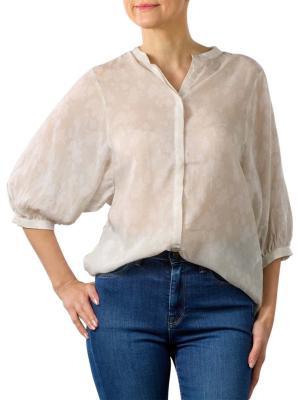 Yaya Lyocell Shirt With Sleeves pebble dessin