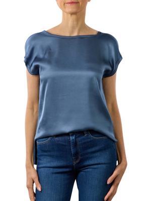 Yaya Fabric Mix T-Shirt washed indige blue