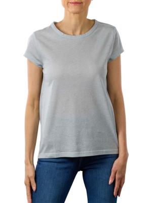 Yaya T-Shirt With Twisted Detail misty blue