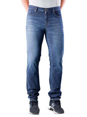 Alberto Pipe Jeans Slim Tencel Denim dark blue