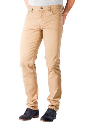 Alberto Pipe Pant Slim DS Broken Twill light brown melange