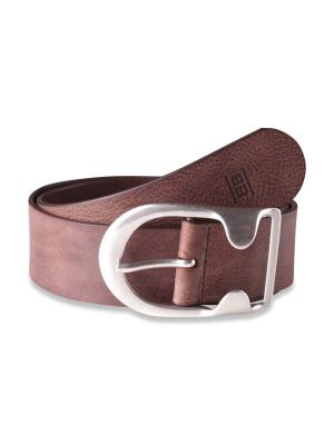 Brad dark brown 50mm by BASIC BELTS