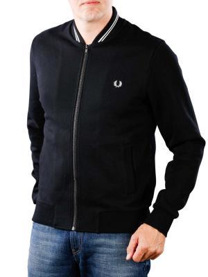 Fred Perry Bomber Neck Sweatshirt black