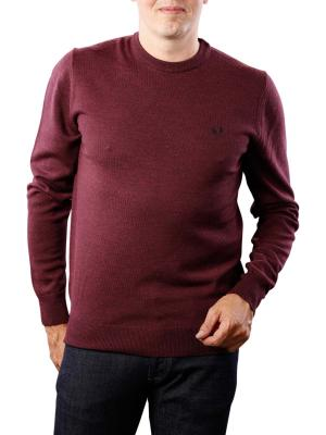 Fred Perry Classic Crew Neck Sweater mahogany marl