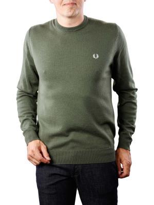 Fred Perry Classic Crew Neck Sweater dark fern