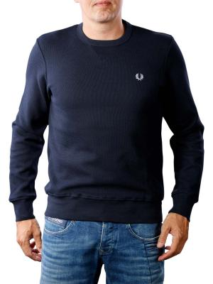 Fred Perry Pique Crew Neck Sweatshirt blue granite