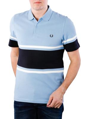 Fred Perry Bold Finde Stripe Piqué Shirt sky