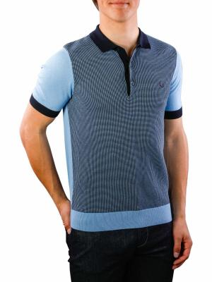 Fred Perry Two Colour Knitted Shirt sky